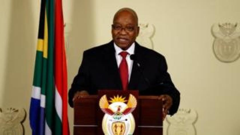 Jacob Zuma en un discurso