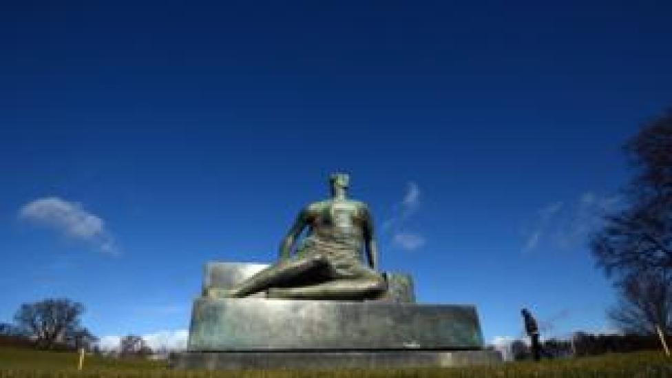Draped Seated Woman at Yorkshire Sculpture Park in Wakefield