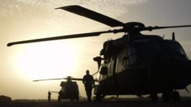 French military helicopter in Mali