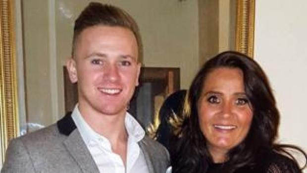 Corrie Mckeague with his mum Nicola Urquhart