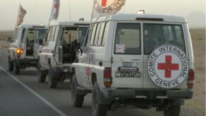 Vehicles belonging to the International Committee of the Red Cross (ICRC) in Afghanistan, 30 August 2007
