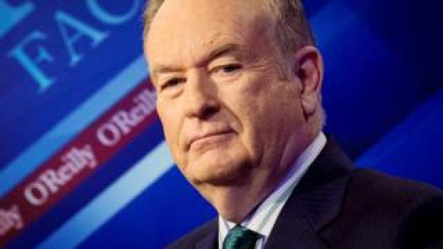 "News Channel host Bill O""Reilly poses on the set of his show ""The O""Reilly Factor"" in New York March 17, 2015."