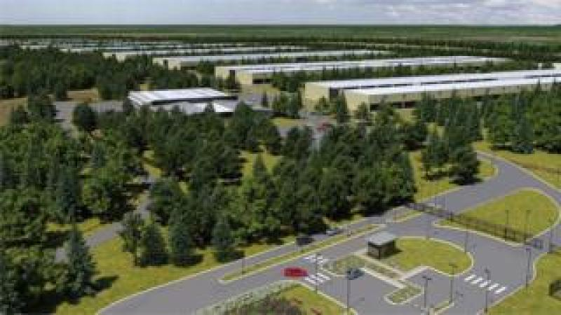 The proposed data centre in Derrydonnell Woods near Athenry