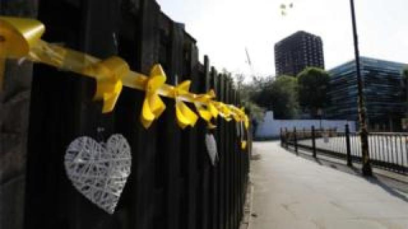 Bunting near Grenfell Tower