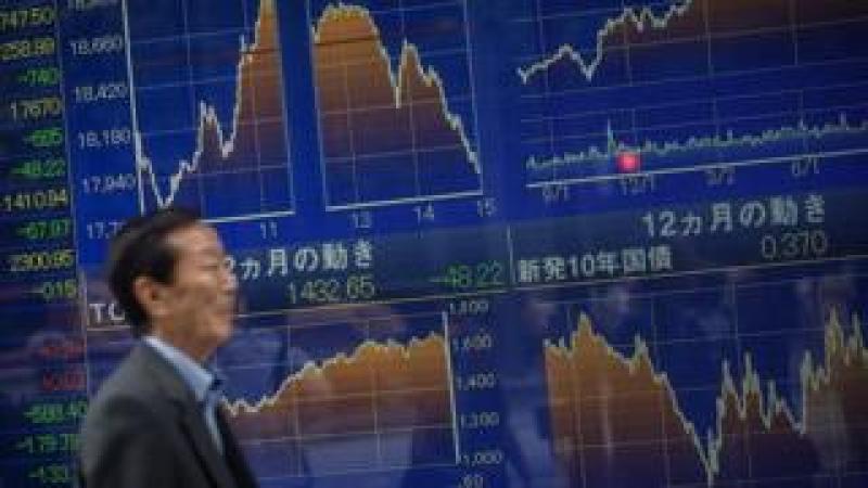Asian stock market ticker boards