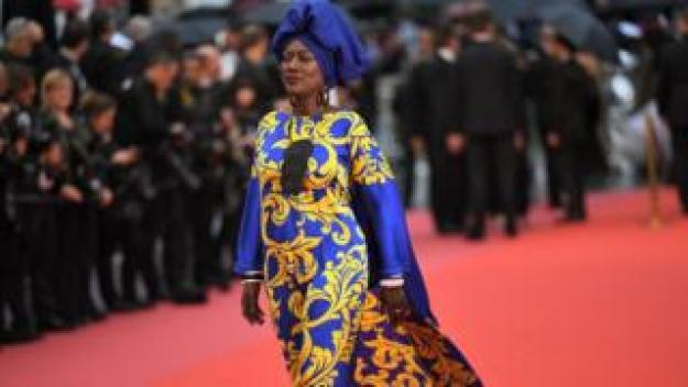 """Burundian singer and member of the Feature Film Jury Khadja Nin arrives on May 16, 2018 for the screening of the film """"Burning"""" at the 71st edition of the Cannes Film Festival in Cannes, southern France."""