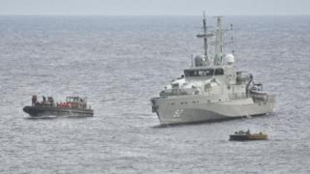 The Australian Navy intercepts a boatload of asylum seekers in 2012