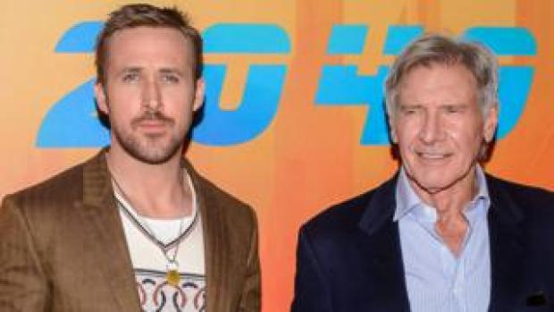 Ryan Gosling and Harrison Ford