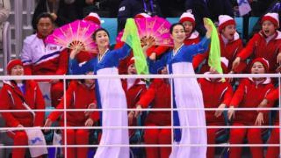 North Korean cheerleaders have been the centre of attraction at the Pyeongchang Olympics