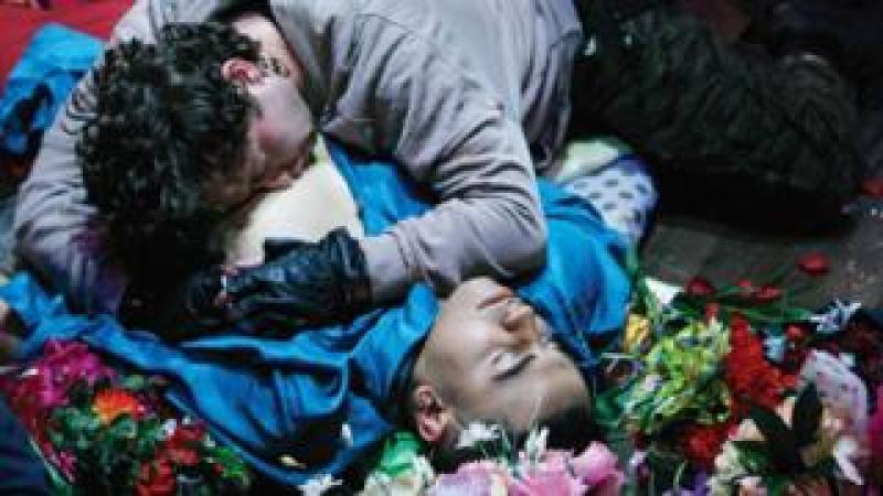 Elliott Kingsley and George Caple in Romeo & Juliet