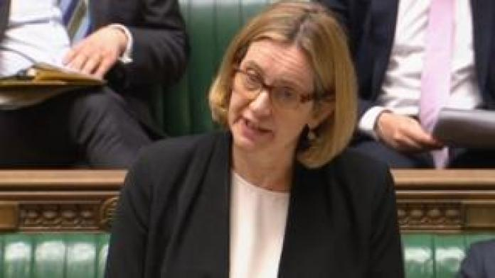 Amber Rudd speaking in the Commons