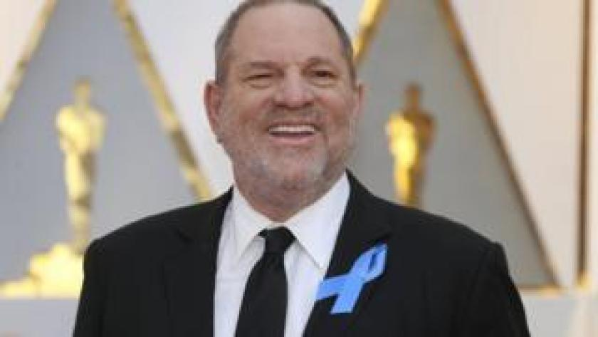 Harvey Weinstein poses on the Red Carpet after arriving at the 89th Academy Awards (Oscars) in Hollywood, California, February 26, 2017