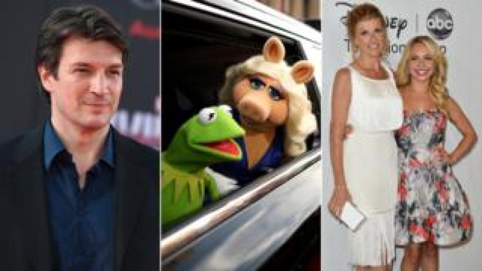 Castle's Nathan Fillion, The Muppets, and Connie Britton and Hayden Panettiere from Nashville