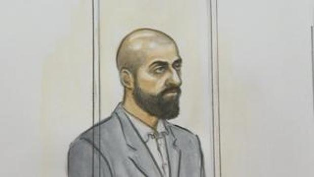 Court sketch of Zameer Ghumra