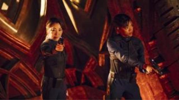Captain Philippa Georgiou, played by Michelle Yeoh, and First Office Michael Burnham, played by Sonequa Martin-Green