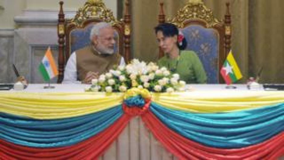 नरेंद्र मोदी और आंग सान सू ची