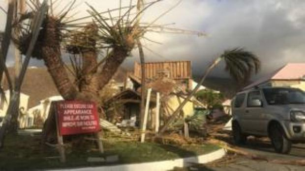 Debris on Grand Turk in the Turks and Caicos Islands