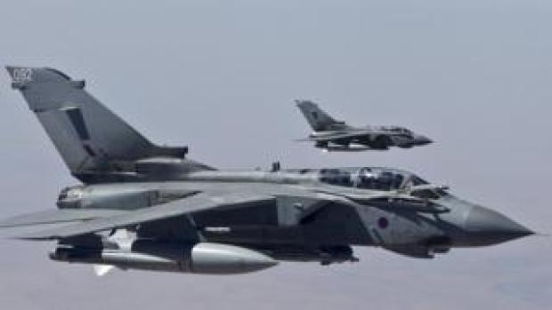 Two RAF Tornado aircraft