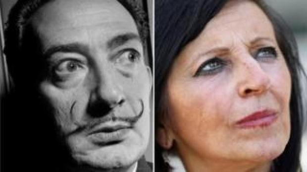 Composite picture of Salvador Dalí and Maria Pilar Abel Martínez