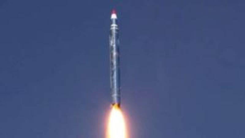 Houthi media photo of missile fired towards Saudi Arabia. 19 Dec 2017
