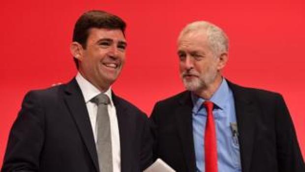 Andy Burnham and Jeremy Corbyn