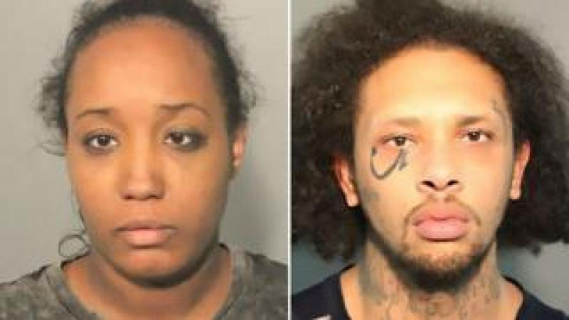 Ina Rogers and Jonathan Allen mug shots