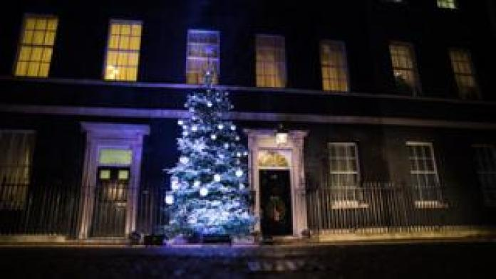Christmas tree outside Downing Street