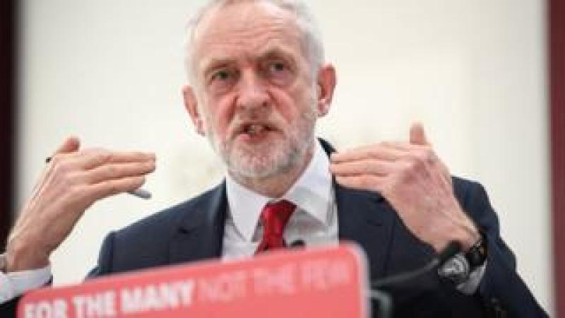 Jeremy Corbyn speaking in Coventry in February