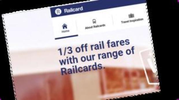 Railcard website