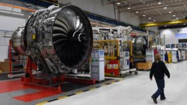 Rolls Royce Trent engine at Derby