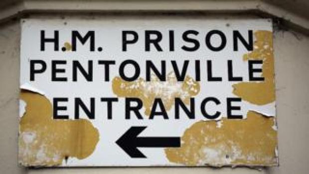 HMP Pentonville sign