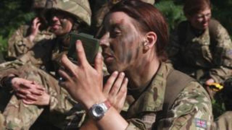 Female recruit at Sandhurst