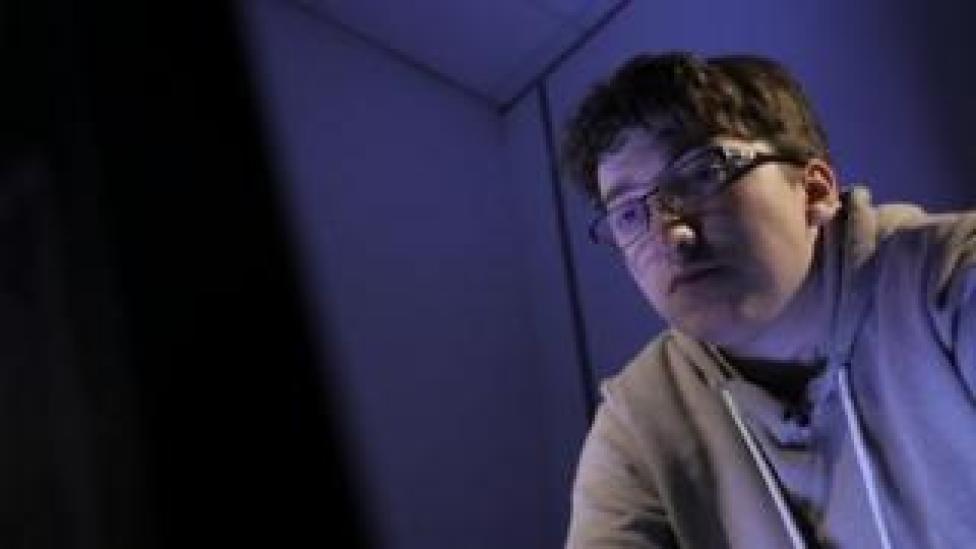 Ryan Archer at a computer