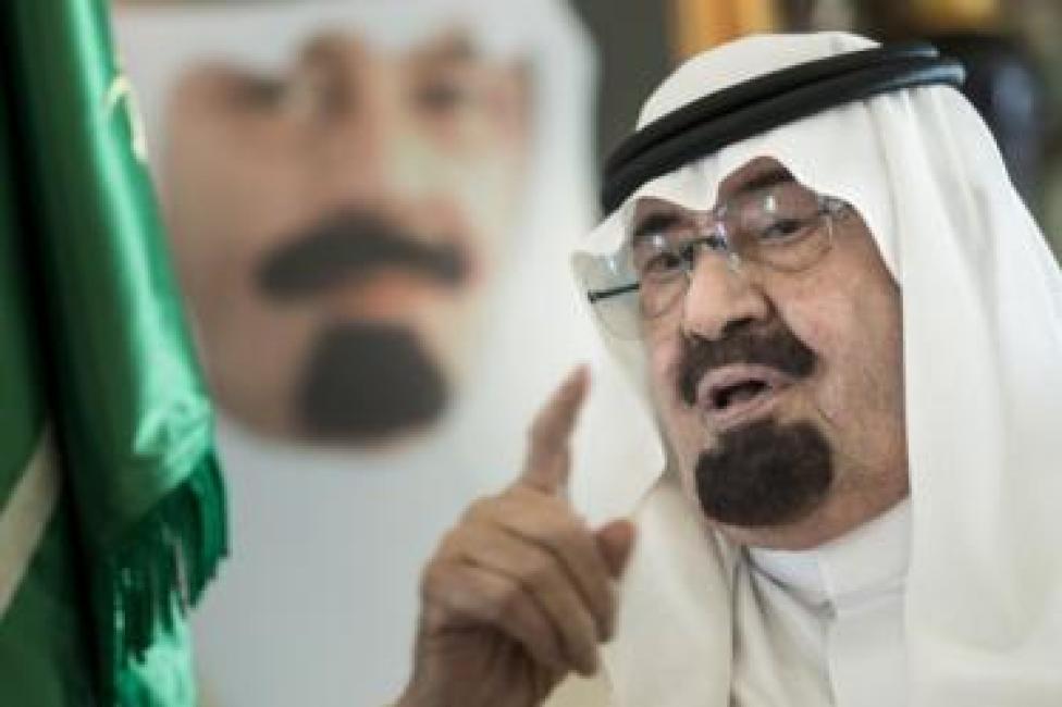 Saudi Arabia's King Abdullah speaks in 2014