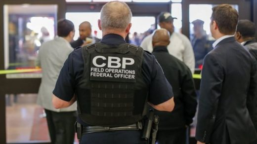 A Customs and Border Protection officer at Atlanta airport. Photo: January 2017