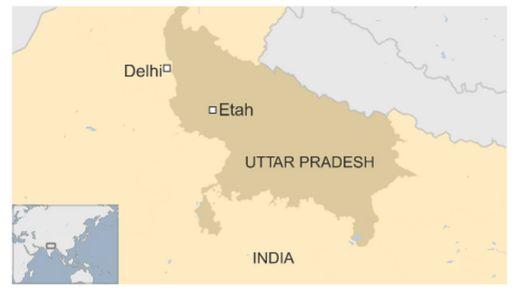 Map of Uttar Pradesh