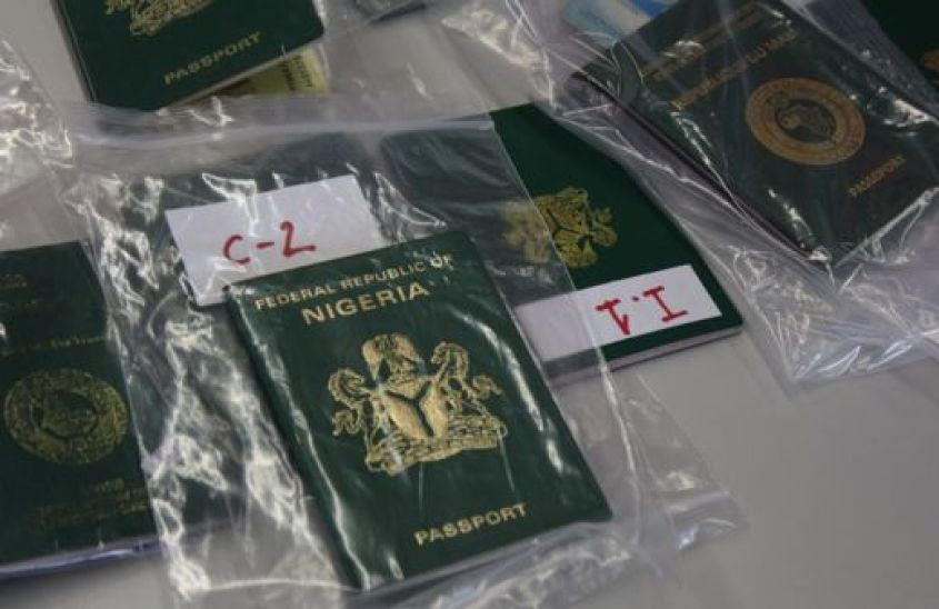 Passports bagged as evidence