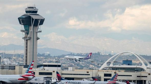 Hawaiian Airlines plane lands at LAX airport (file image)