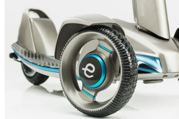 Close up of 'e-floater' scooter