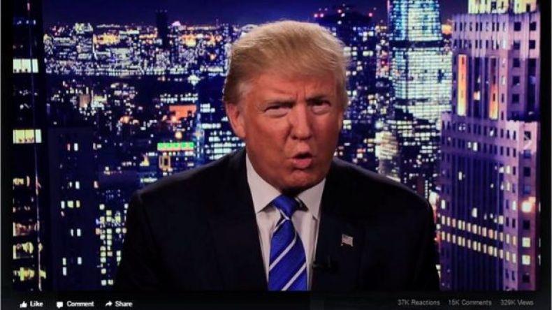 Captura de pantalla del video de disculpas de Donlad Trump