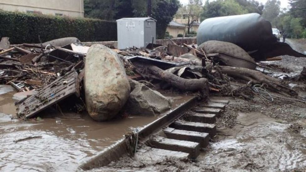 boulders the size of cars slammed into roadways