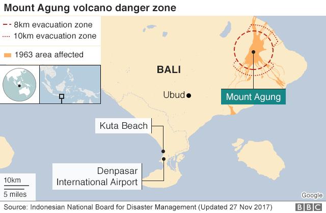 map showing danger zone