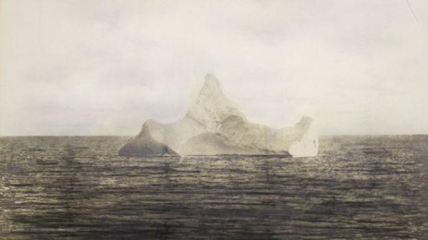 La foto del supuesto iceberg que hundió al Titanic.