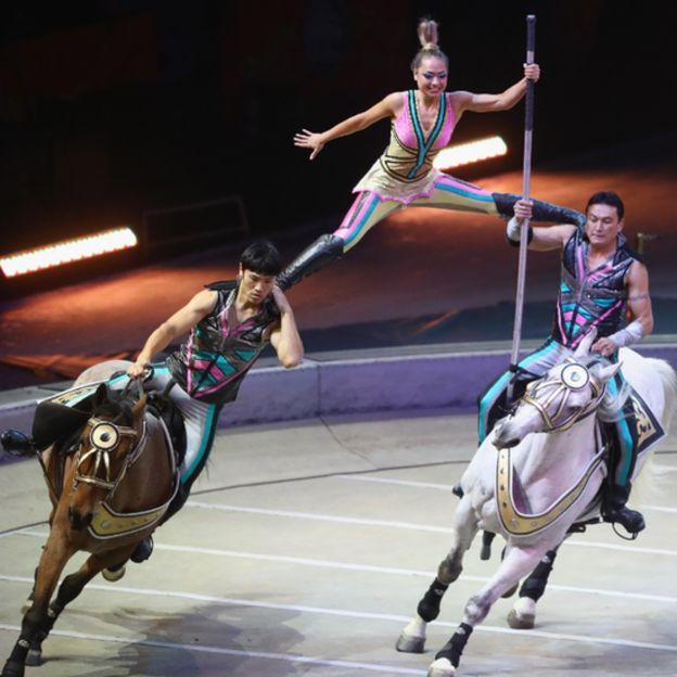 Performers on horses from the Ringling Bros. Photo: 21 May 2017