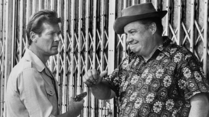 Roger Moore and Clifton James