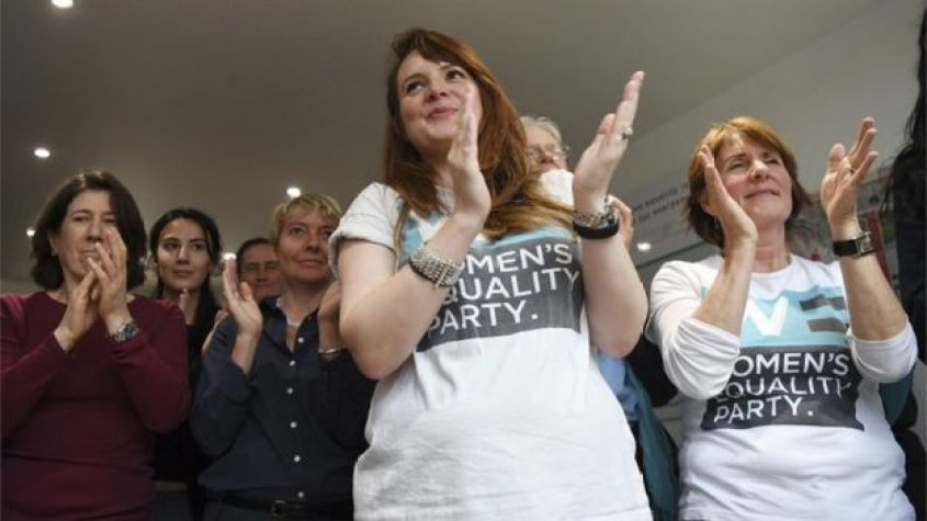 Women's Equality Party supporters