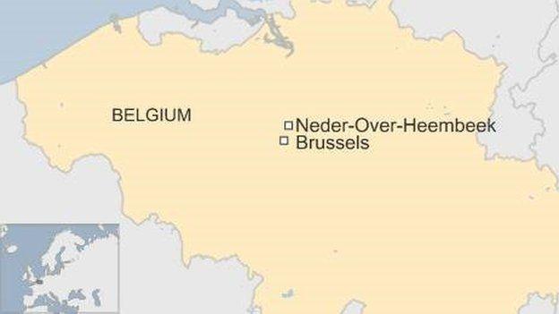 Map showing town of Neder-over-Heembeek in Belgium - August 2016