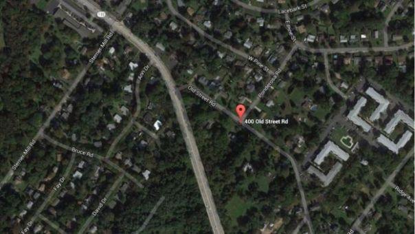 Foto aérea de la localidad rural donde vivía Lee Kaplan con las menores.