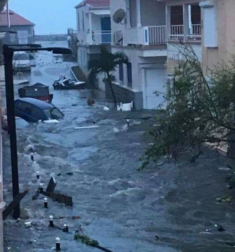Inundaciones en la parte holandesa de San Martin