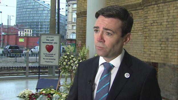 Andy Burnham at Victoria Station